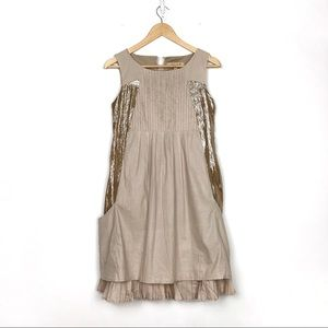 See by Chloe | Pleated Shimmer Cotton Dress